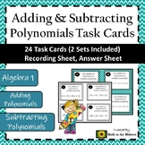 Adding & Subtracting Polynomials Task Cards {Algebra 1}