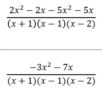 Adding Subtracting Rational Expressions Puzzles