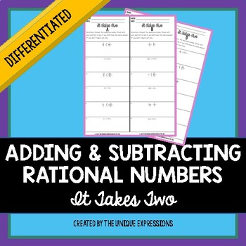 Adding & Subtracting Rational Numbers Partner Activity