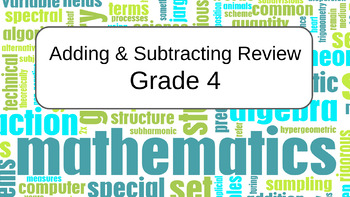 Adding & Subtracting Review Grade 4