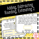 Adding Subtracting Rounding Estimating to 9,999 Boom Cards