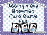 "Adding - Subtracting Tens Snowmen Card Game Fun ""Combo Pack"" (CCSS)"