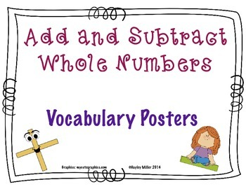 Adding & Subtracting Whole Number Posters