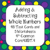 Adding & Subtracting Whole Numbers 4th Grade Common Core 4.NBT.4