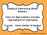 Adding & Subtracting Whole Numbers Word Problems - DIFFERE