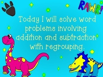 Adding & Subtracting With Regrouping Word Problems in Power Point