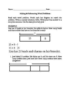 Adding Subtracting Word Problems