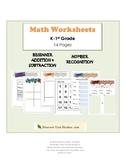 K-1st Grade Hands-on Math Centers!