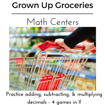 Adding, Subtracting, and Multiplying Decimals: Real Life Grocery Game