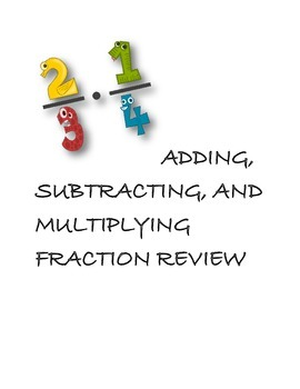Adding, Subtracting, and Multiplying Fractions Review Game
