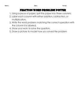 Adding, Subtracting, and Multiplying Fractions Word Problems Practice