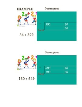 Adding, Subtracting, and Multiplying Numbers by Decomposing