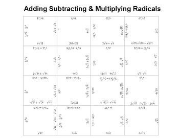 Adding, Subtracting, and Multiplying Radicals