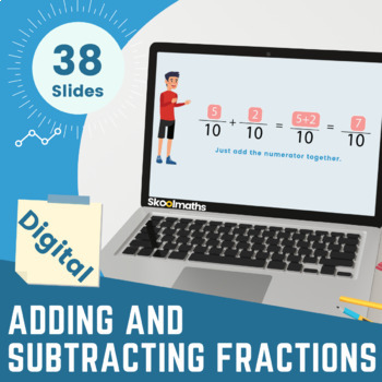 Adding & Subtracting of Fractions, 3rd grade, (UK Year 4, key stage 2)