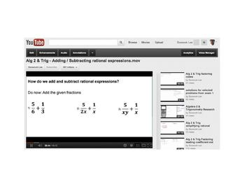 Adding & Subtracting rational expressions