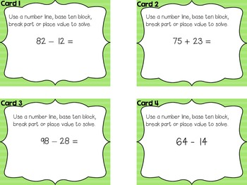 Adding Subtracting up to 100 2.nbt.b.4
