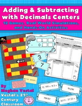 Adding & Subtracting with Decimals Centers