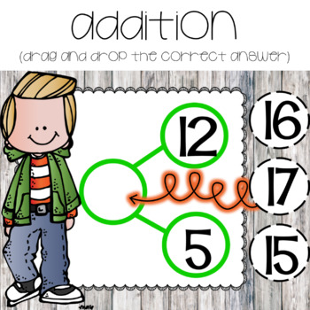 Adding & Subtracting with Number Bonds ~ For Google Drive & Google Classroom