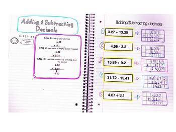Adding/Subtracting with decimals