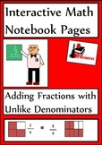Adding & Subtracting Fractions for Interactive Math Notebooks