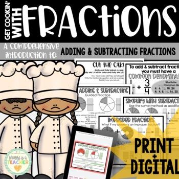 Add/Subtract Fractions-Unlike Denominators: Activities, Materials, Assessments
