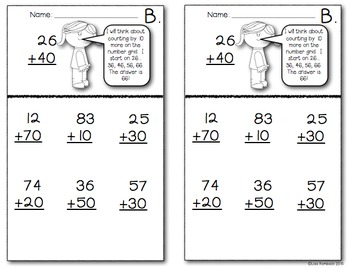 Adding & Subtracting Multiples of 10 Practice Booklet
