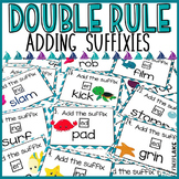Adding Suffixes Double Rule Task Cards/Scoot Game