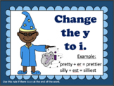Adding Suffixes Posters and Practice