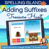 Adding Suffixes Spelling Rules Review Digital Hunt Game