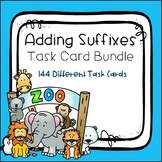 Adding Suffixes Task Card Bundle