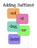 Adding Suffixes: -ed -s -ing -er -less