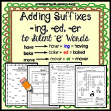 """Adding Suffixes -ing, -ed, -er to Silent """"e"""" Words"""