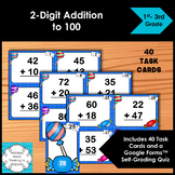 Adding Task Cards 2-Digit by 2-Digit Numbers to 100