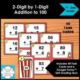 Adding Task Cards 2-Digit by 1-Digit Numbers to 100
