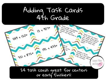 Adding Task Cards - 4th grade