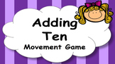 Adding Ten Addition Facts Mental Maths Game, Brain Break or Maths Warm Up