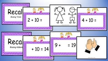 Adding Ten Addition Facts Mental Maths Game, Brain Break or Maths Warm Up