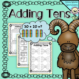 Adding Tens onto Two digit numbers - Worksheets / Printables for Grade One