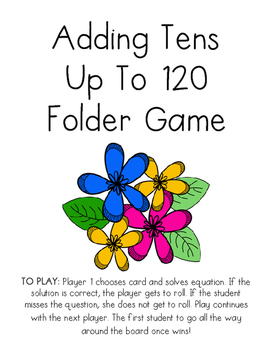 Adding Tens Board Game