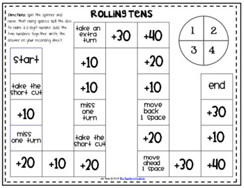 Adding Tens - Math Centers and Activities