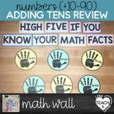 Adding Tens - High-Five Math Wall