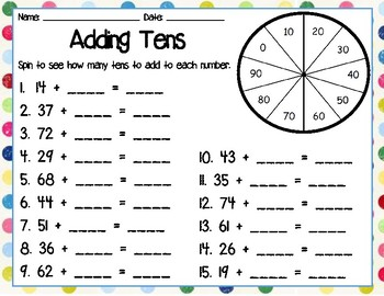 Adding Tens & Ones Spinner