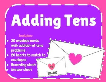 Adding Tens (Valentine's Day) Go Math Chapter 8