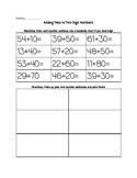 Adding Tens Worksheet