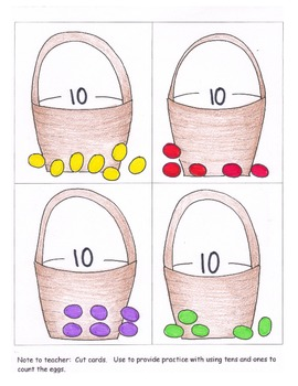 Adding Tens and Ones Composing Numbers 11 to 19 Lesson Plan Cards Worksheet