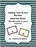 Adding Tens and Ones (Double Digit Adding) Write the Room with QR Codes