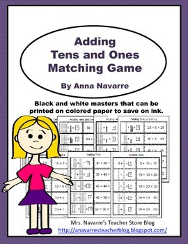 Adding Tens and Ones Matching Game
