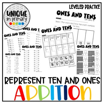 Adding Tens And Ones Worksheets Teaching Resources Teachers Pay