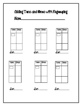 Adding Tens and Ones with Regrouping