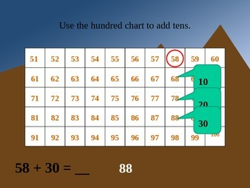 Adding Tens on a Hundred Chart